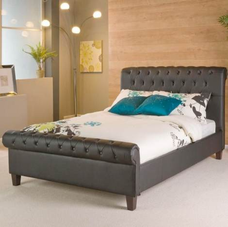 Faux Leather Bedstead Nottingham