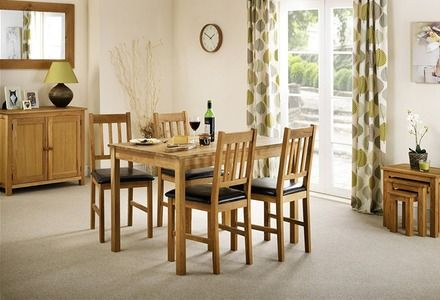 Solid oak with oiled finish dining set