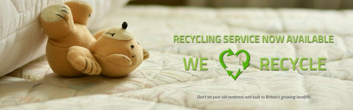 Mattresses and sofas go to our recycling plant locally in Nottingham